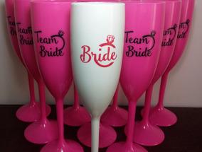 20 Taças Acrílico Personalizadas- Bride E Team Bride