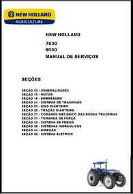 Manual De Serviço Trator New Holland Serie 30 - 7630 8030