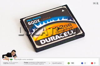 Compact Flash 32gb Duracell Pro Photo Udma 600x 90mb/s - Ap