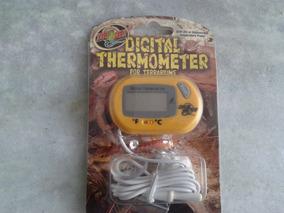 Termometro Digital Zoomed P/ Aquario Terrários Répteis Th-24