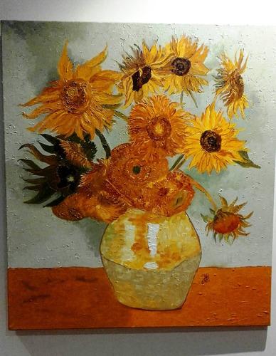 Reproducción Del Cuadro De Van Gogh Girasoles, Brillante!