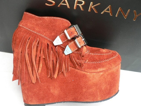 Bota Zapato Plataforma Ricky Sarkany Gamuza Nº 40