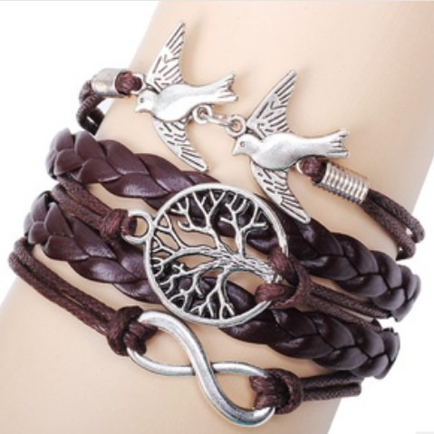 Bracelete Pulseira Em Couro Lindissima Fashion Na Moda