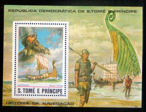 Santo Tomé Barcos, Bloque Sc. 672 Vikingos 82 Mint L8728