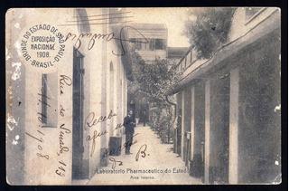 Cartão Postal Antigo Exposição Nacional 1908 São Paulo