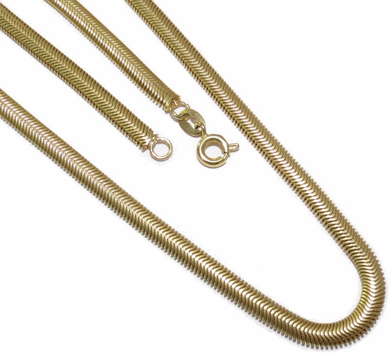 Corrente Folheada A Ouro 18k 45cm / 5mm Espessura Nº2
