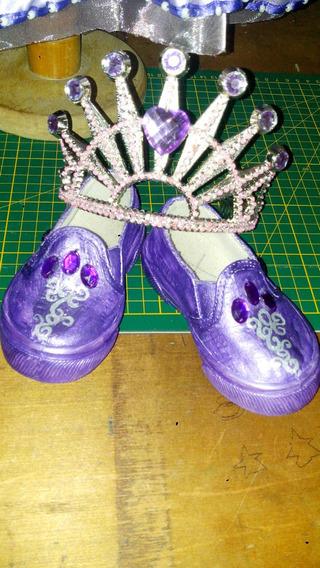Zapatos Princesa Sofia Y Dije