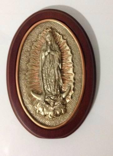 Placa Em Bronze Madeira De Nossa Senhora 20cm