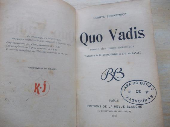 Livro - Quo Vadis - Henryk Sienkiewicz - Em Francês
