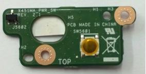 Botão Power Do Notebook Asus X451ca