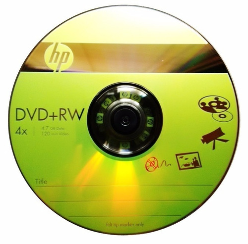 3 Discos Dvd Regrabable + Rw Marca Hp 4.7gb Data Video Mp3