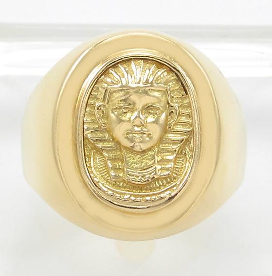 Anel Modelo Egípcio Tutankamon Aro17 Ouro Amarelo 18k 750.