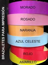 Brazaletes Con/sin Personalización (colores/diseños Varios)