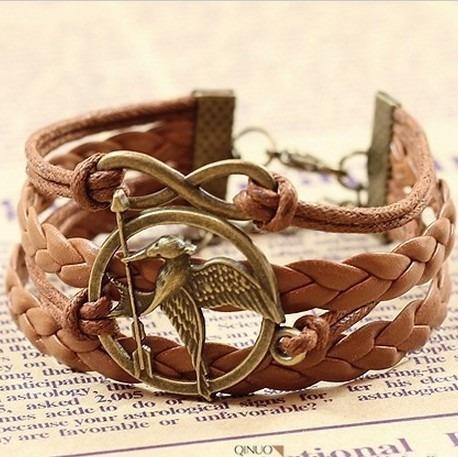 Bracelete Plseira Em Couro Marrom Lindissima Fashion