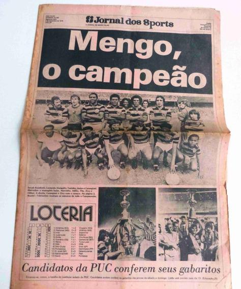 Jornal Flamengo Campeão Carioca 78 - Gol Do Rondinelli
