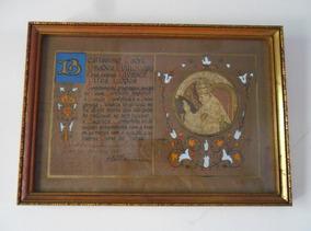 Quadro Emoldurado - Benção Apostolica Papa Pio Xii 1954