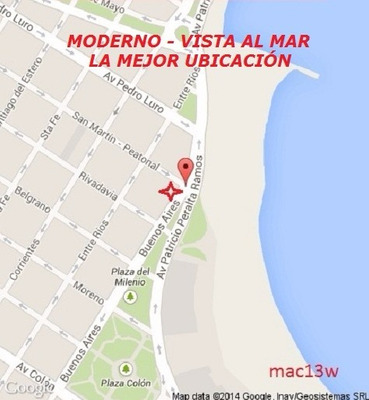 Centro, Vista Al Mar, 2 Amb. 4 Pers. Dueño