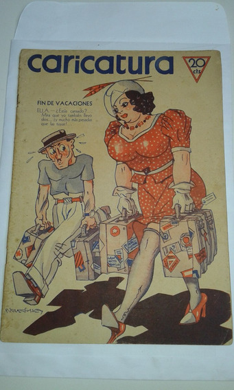 Revista Caricatura N.597 1937 Argentina Tipo Shimmy No Estad