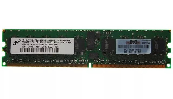 Memoria 1gb 1rx4 Pc2-3200r Dim Ml350 G4p Pn 416356-001