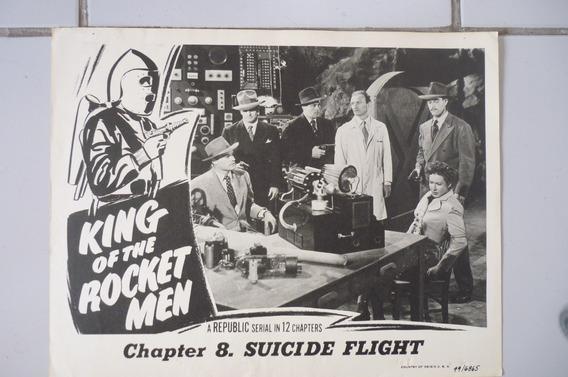 O Homem Foguete (king Of The Rocket Men) Lobby Card Seriado