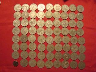 Monedas Chilenas De 1 Peso Año 1933- 71 Moneda En Buen Estad