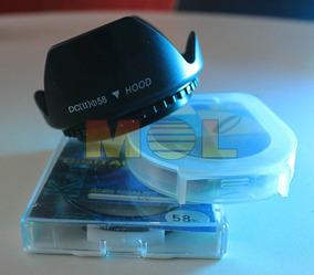 Canon T3i T3 Parasol+ Filtro Uv + Polarizador Circular 58mm