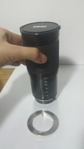Lente Sakar 28-200m Com Anel Adaptador Para Canon Ou Nikon