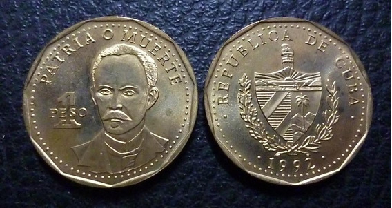 Cuba Moneda 1 Peso 1992 - José Martí (patria O Muerte)