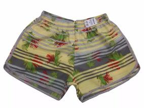 Kit Com 05 Shorts Adulto Feminino Estampado Extra Plus-size
