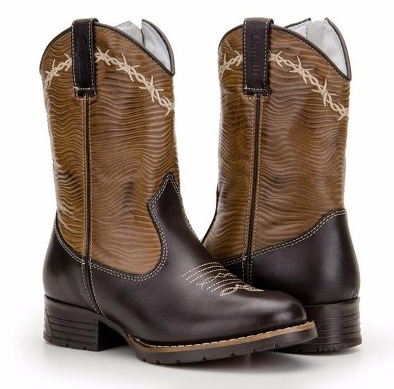 Bota Infantil Country Masculina Texana Botinha Capelli Boots