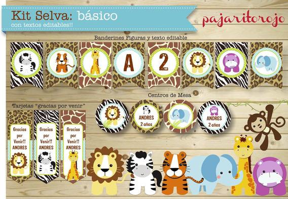 Kit Imprimible Animales De La Selva