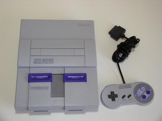 Super Nintendo Completo Super Oferta Com 6 Fitas