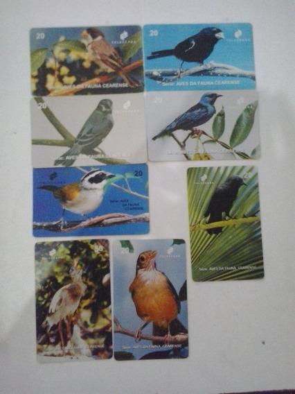 Cartões Telefônicos-serie Aves Fauna Cearense - Frete Grátis