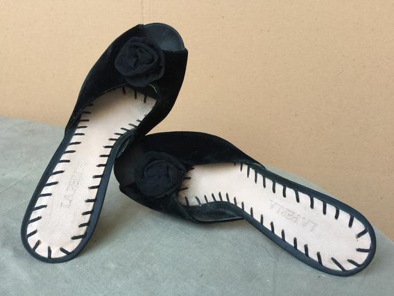 Zapatos Pantuflas En Pana. La Perla Italia
