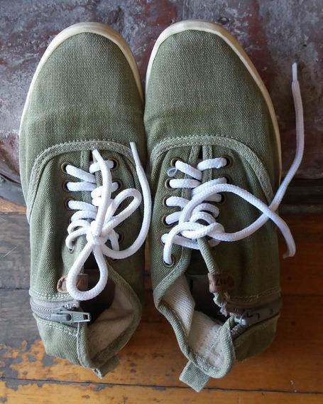 Zapatillas Lona Cordon Y Cierre 47st-pompeya/v Crespo