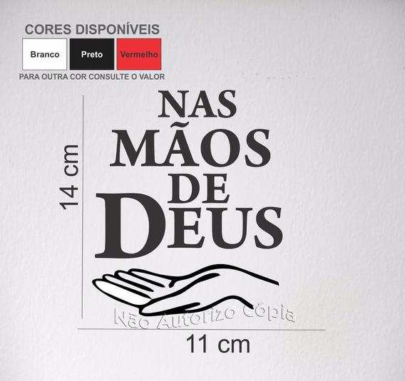 Kit 8 Adesivos P/ Carro / Vidro - Nas Mãos De Deus 11x14 Cm