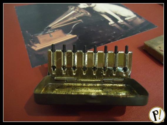 Caixa 8 Agulhas Victor Gramofone Lacradas P/ 300 Execuções