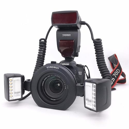 Imagem 1 de 5 de Flash Yongnuo Yn 24ex Ttl Macro Twin - Flash/led Para Canon