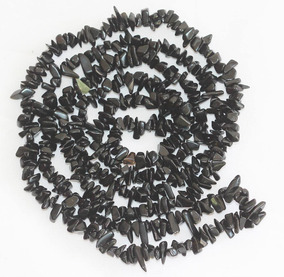 Cascalho Onix Negro Preto Natural Miudo Teostone Colar 433