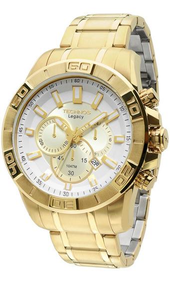 Relógio Technos Js25an/4b - Cronógrafo Dourado 12x Sem Juros