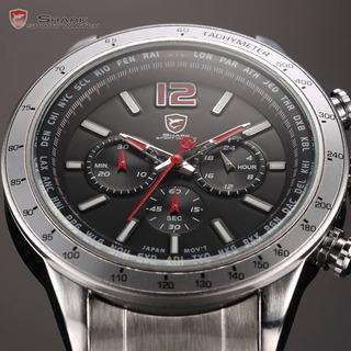 Reloj Shark Cronografo Digital Rojo Cuarzo