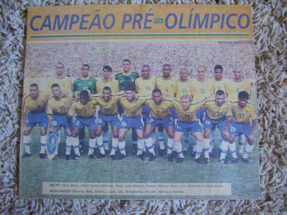 Poster Brasil Campeão Torneio Pré-olímpico 2000 Papel Jornal