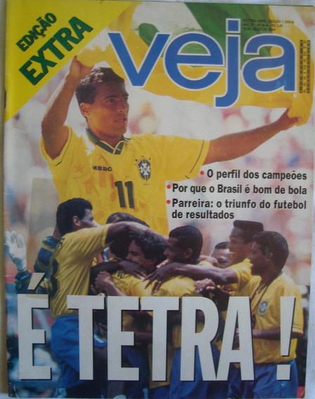 Revista Veja Copa 94 = Brasil Tetra Campeão Mundial De 1994