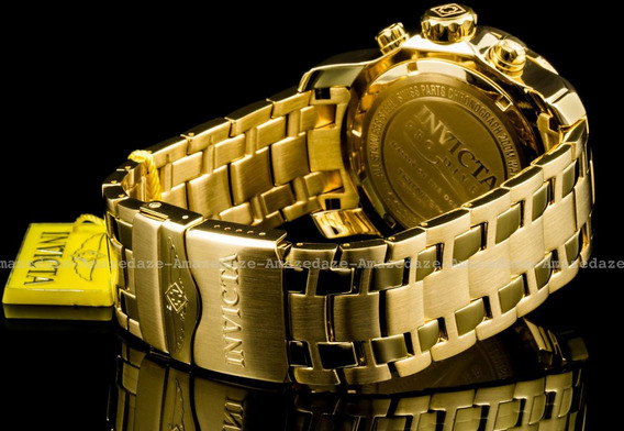 Invicta Modelo 0074 - Banhado Ouro 18k 100% Original