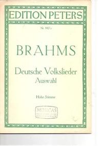 Livro Brahms Deutsche Volkslieder Auswahl 20 Canções