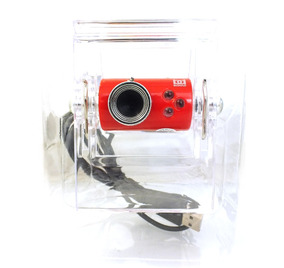 Webcam Bomao Bm-0602 Vermelha C/ Leds A2677