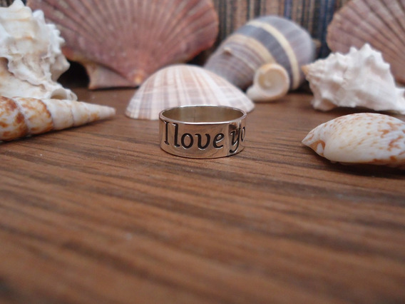 Anillo De Amor I Love You # 5.5 En Plata Pura Ley.925