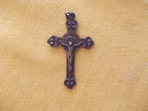 Crucifijo Colgante Med.6x4 Bronce