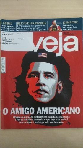 Revista Veja Nº 2405 Obama Cuba Política Petrobrás Fidel Cas