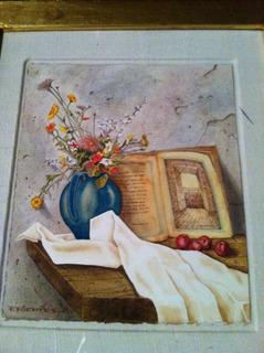 Pintura Acuarela Original Firmada Fernando Fuentes Cuadro